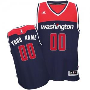 Washington Wizards Swingman Personnalisé Alternate Maillot d'équipe de NBA - Bleu marin pour Enfants