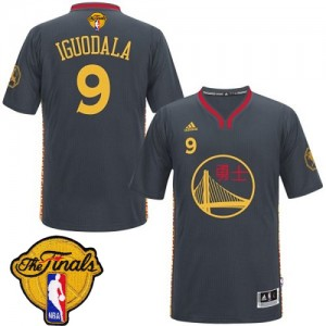Maillot Authentic Golden State Warriors NBA Slate Chinese New Year 2015 The Finals Patch Noir - #9 Andre Iguodala - Homme