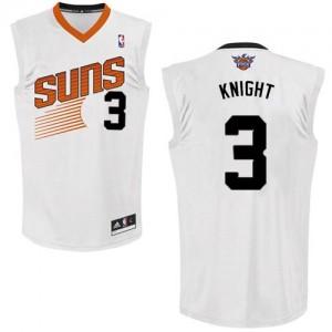 Phoenix Suns #3 Adidas Home Blanc Authentic Maillot d'équipe de NBA Braderie - Brandon Knight pour Homme