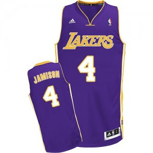Maillot Adidas Violet Road Swingman Los Angeles Lakers - Byron Scott #4 - Homme