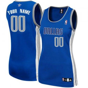 Maillot NBA Bleu marin Authentic Personnalisé Dallas Mavericks Alternate Femme Adidas