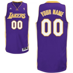 Maillot NBA Violet Swingman Personnalisé Los Angeles Lakers Road Homme Adidas