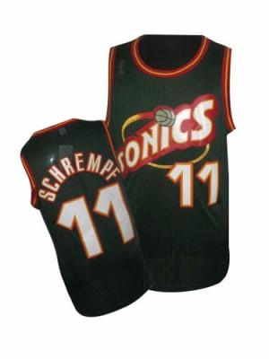 Oklahoma City Thunder #11 Adidas SuperSonics Throwback Vert Authentic Maillot d'équipe de NBA en ligne - Detlef Schrempf pour Homme