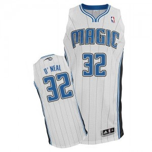 Orlando Magic #32 Adidas Home Blanc Authentic Maillot d'équipe de NBA Remise - Shaquille O'Neal pour Homme