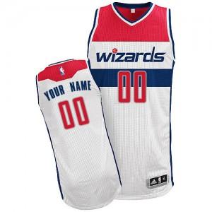 Washington Wizards Authentic Personnalisé Home Maillot d'équipe de NBA - Blanc pour Enfants