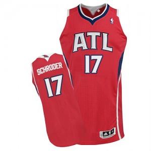 Maillot Adidas Rouge Alternate Authentic Atlanta Hawks - Dennis Schroder #17 - Homme