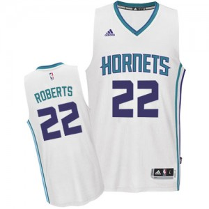 Maillot NBA Charlotte Hornets #22 Brian Roberts Blanc Adidas Authentic Home - Homme