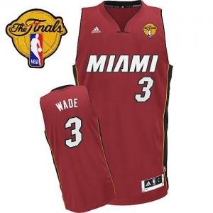 Maillot NBA Swingman Dwyane Wade #3 Miami Heat Alternate Finals Patch Rouge - Homme