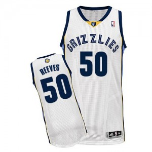 Maillot NBA Authentic Bryant Reeves #50 Memphis Grizzlies Home Blanc - Homme