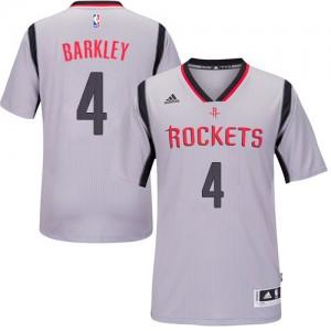 Houston Rockets Charles Barkley #4 Alternate Authentic Maillot d'équipe de NBA - Gris pour Homme