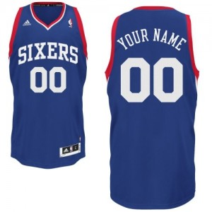 Maillot Adidas Bleu royal Alternate Philadelphia 76ers - Swingman Personnalisé - Enfants