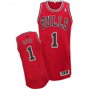Maillot NBA Chicago Bulls #1 Derrick Rose Rouge Adidas Authentic Road - Enfants