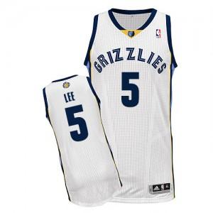 Memphis Grizzlies #5 Adidas Home Blanc Authentic Maillot d'équipe de NBA pour pas cher - Courtney Lee pour Homme
