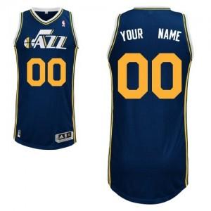 Maillot Adidas Bleu marin Road Utah Jazz - Authentic Personnalisé - Enfants