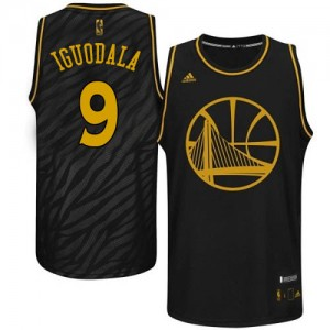 Maillot NBA Noir Andre Iguodala #9 Golden State Warriors Precious Metals Fashion Authentic Homme Adidas