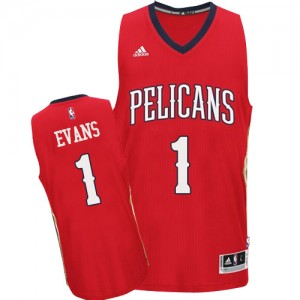 Maillot Swingman New Orleans Pelicans NBA Alternate Rouge - #1 Tyreke Evans - Homme