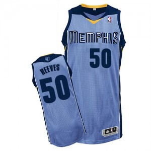 Maillot Authentic Memphis Grizzlies NBA Alternate Bleu clair - #50 Bryant Reeves - Homme