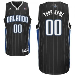 Maillot NBA Orlando Magic Personnalisé Swingman Noir Adidas Alternate - Femme