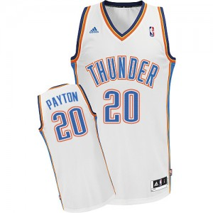 Maillot NBA Blanc Gary Payton #20 Oklahoma City Thunder Home Swingman Homme Adidas