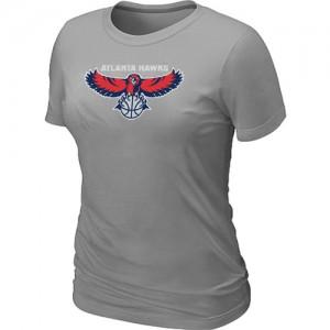 Atlanta Hawks Big & Tall T-Shirts d'équipe de NBA - Gris pour Femme