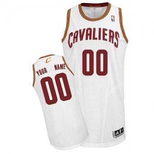 Cleveland Cavaliers Authentic Personnalisé Home Maillot d'équipe de NBA - Blanc pour Enfants
