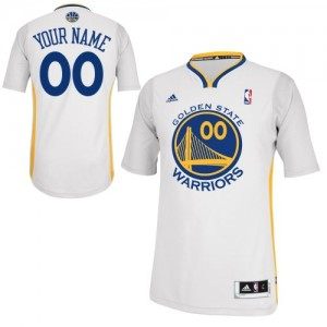 Maillot Adidas Blanc Alternate Golden State Warriors - Swingman Personnalisé - Enfants