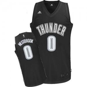 Oklahoma City Thunder Russell Westbrook #0 Swingman Maillot d'équipe de NBA - Noir Blanc pour Homme
