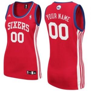 Philadelphia 76ers Personnalisé Adidas Road Rouge Maillot d'équipe de NBA à vendre - Swingman pour Femme