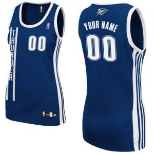 Maillot Oklahoma City Thunder NBA Alternate Bleu marin - Personnalisé Authentic - Femme