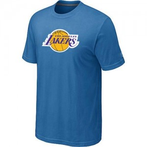 T-shirt principal de logo Los Angeles Lakers NBA Big & Tall Bleu clair - Homme
