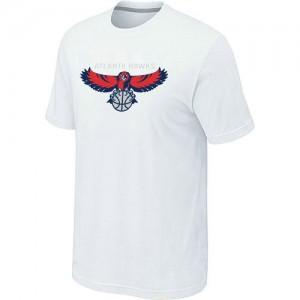 Atlanta Hawks Big & Tall T-Shirts d'équipe de NBA - Blanc pour Homme