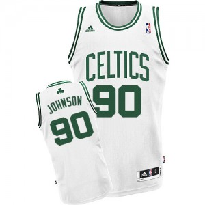 Boston Celtics Amir Johnson #90 Home Swingman Maillot d'équipe de NBA - Blanc pour Homme