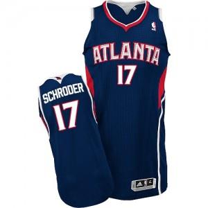 Maillot Adidas Bleu marin Road Authentic Atlanta Hawks - Dennis Schroder #17 - Homme