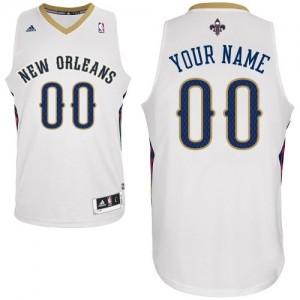 Maillot Adidas Blanc Home New Orleans Pelicans - Swingman Personnalisé - Femme