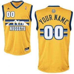 Denver Nuggets Personnalisé Adidas Alternate Or Maillot d'équipe de NBA à vendre - Swingman pour Homme