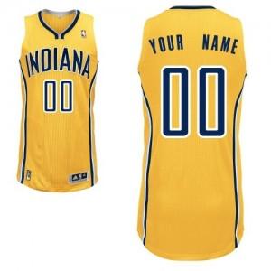 Indiana Pacers Authentic Personnalisé Alternate Maillot d'équipe de NBA - Or pour Enfants