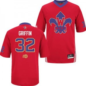 Maillot NBA Rouge Blake Griffin #32 Los Angeles Clippers 2014 All Star Authentic Homme Adidas