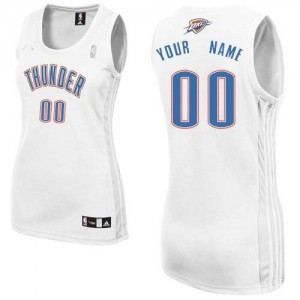 Maillot Oklahoma City Thunder NBA Home Blanc - Personnalisé Authentic - Femme