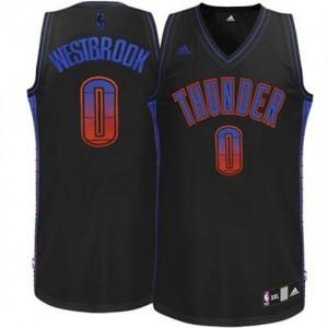 Oklahoma City Thunder Russell Westbrook #0 Vibe Swingman Maillot d'équipe de NBA - Noir pour Homme