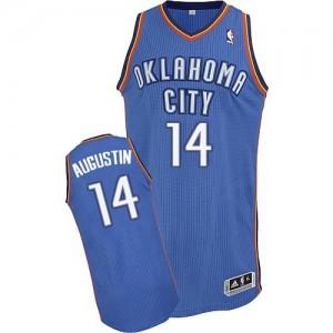 Maillot NBA Bleu royal D.J. Augustin #14 Oklahoma City Thunder Road Authentic Homme Adidas
