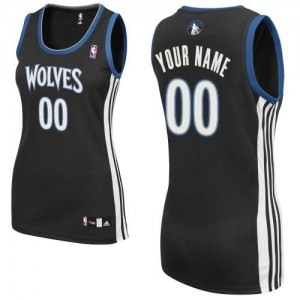 Maillot NBA Noir Authentic Personnalisé Minnesota Timberwolves Alternate Femme Adidas