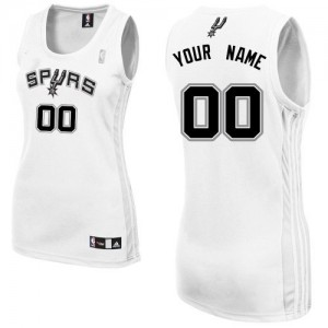 Maillot San Antonio Spurs NBA Home Blanc - Personnalisé Authentic - Femme