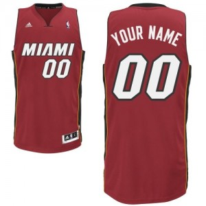 Maillot Adidas Rouge Alternate Miami Heat - Swingman Personnalisé - Homme
