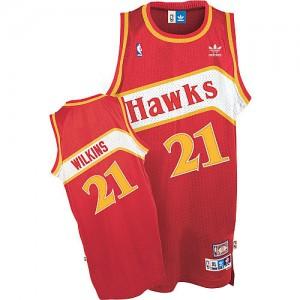 Maillot NBA Swingman Dominique Wilkins #21 Atlanta Hawks Throwback Rouge - Homme