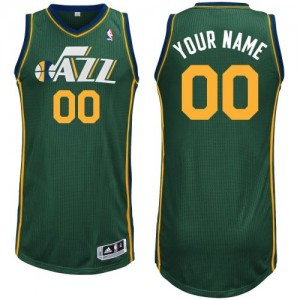 Maillot Utah Jazz NBA Alternate Vert - Personnalisé Authentic - Enfants