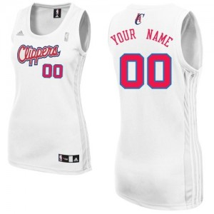 Maillot NBA Blanc Swingman Personnalisé Los Angeles Clippers Home Femme Adidas