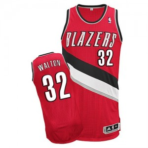 Maillot Adidas Rouge Alternate Authentic Portland Trail Blazers - Bill Walton #32 - Homme