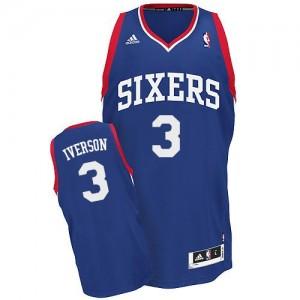 Philadelphia 76ers Allen Iverson #3 Alternate Swingman Maillot d'équipe de NBA - Bleu royal pour Homme