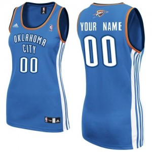 Maillot Oklahoma City Thunder NBA Road Bleu royal - Personnalisé Swingman - Femme