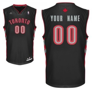Maillot NBA Swingman Personnalisé Toronto Raptors Alternate Noir - Enfants